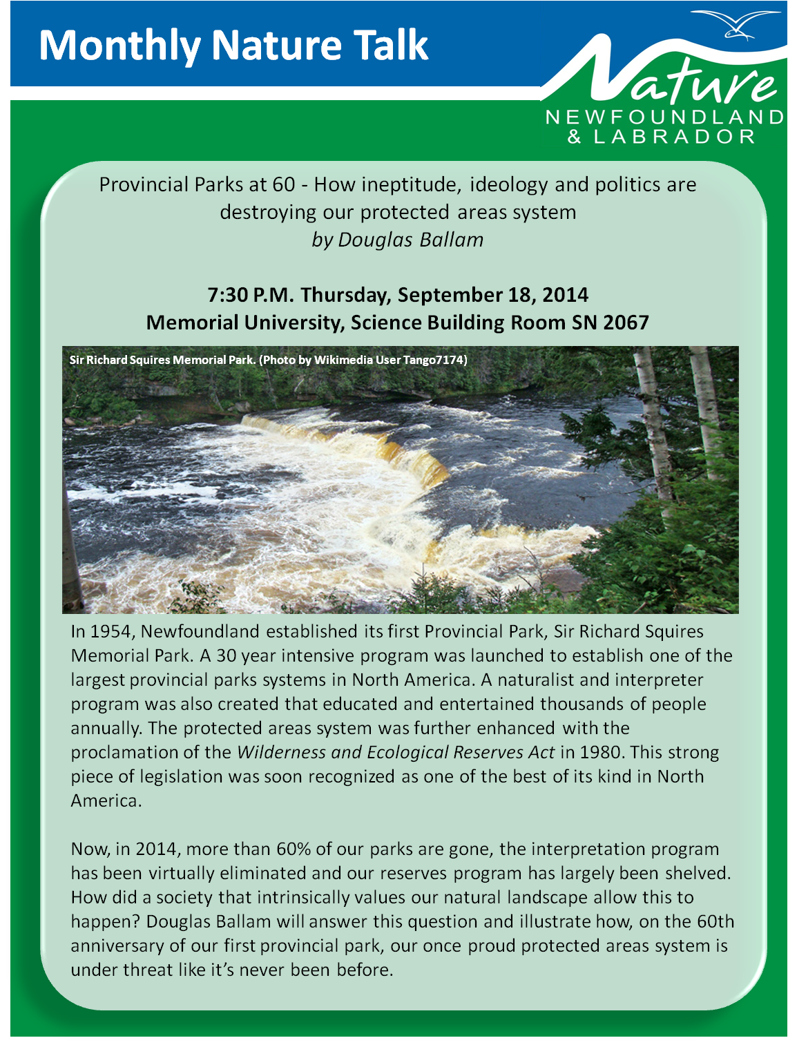 September Talk – Provincial Parks at 60