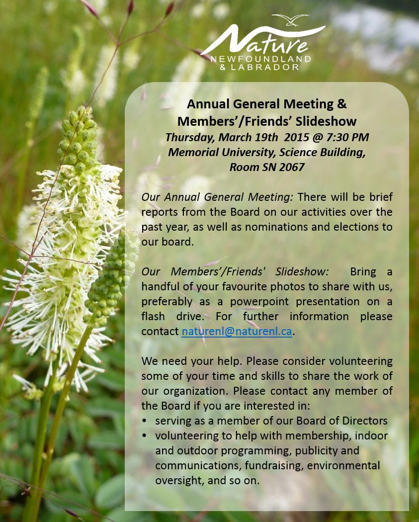 Annual General Meeting & Members'/Friends' Slideshow