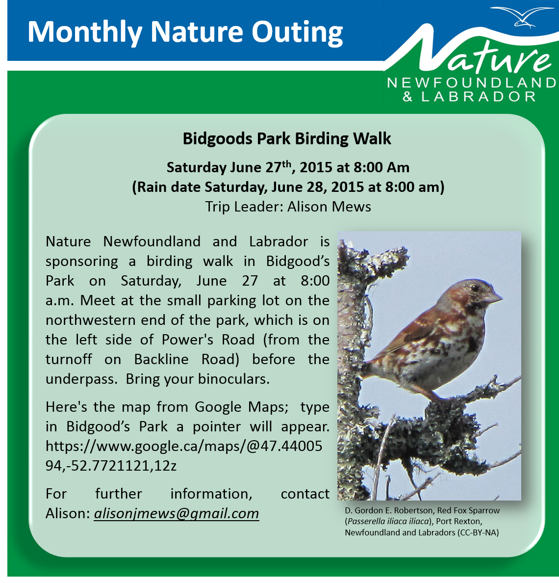 Bidgood's Park Birding Walk