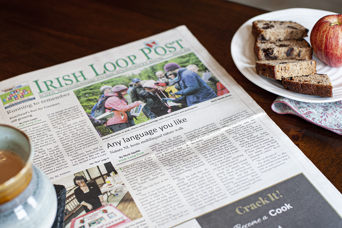 Irish Loop Post highlights Nature NL multilingual hikes