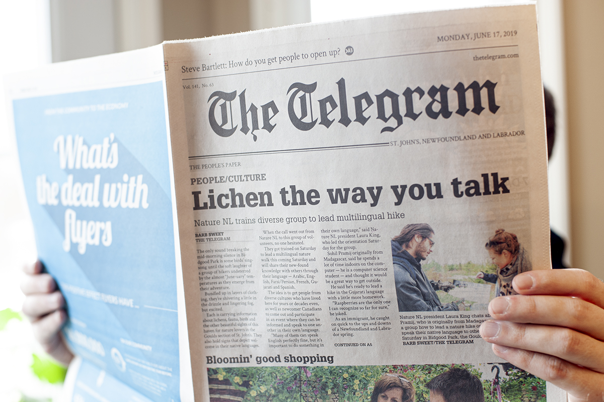 Multilingual hikes recognized in The Telegram