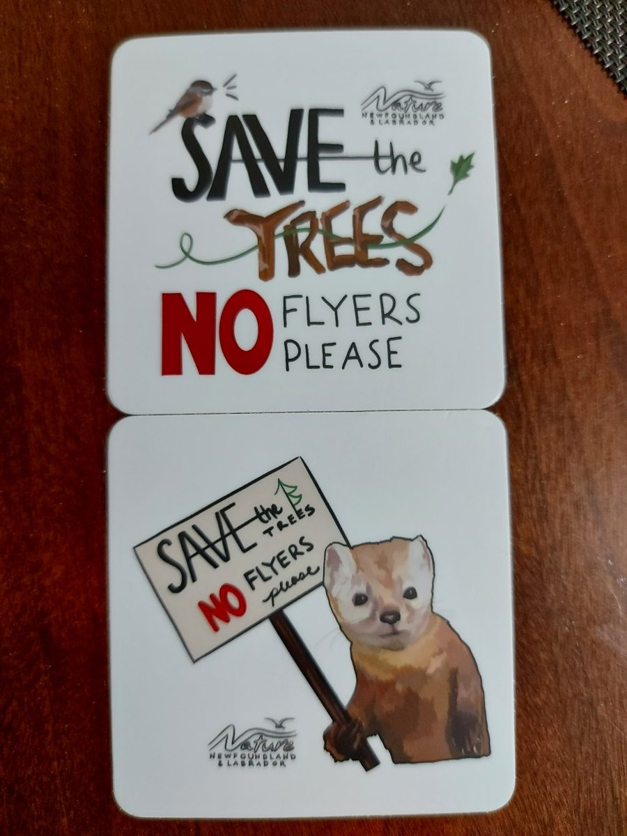 """""""Save the Trees, No Flyers Please"""" Magnets"""